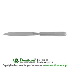 "Liston Amputation Knife With Hollow Handle Stainless Steel, 35 cm - 13 3/4"" Blade Size 220 mm"