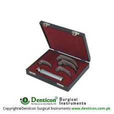 Apollo™ Standard McIntosh Laryngoscope Set With Battery Handle Ref:- AN-290-01 and Blades Ref:- AN-210-01 to AN-210-03 Stainless Steel,
