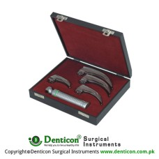 MaxBright™ Fiber Optic McIntosh Laryngoscope Set With Battery Handle Ref:- AN-890-01 and Blades Ref:- AN-710-00 to AN-710-04 Stainless Steel,