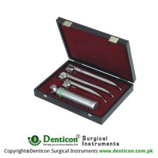 MaxBright™ Fiber Optic McIntosh Laryngoscope Set With Battery Handle Ref:- AN-890-01 and Blades Ref:- AN-810-00 to AN-810-04 Stainless Steel,