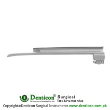 MaxBright™ Fiber Optic Miller Laryngoscope Blade Fig. 2 - For Adolescents Stainless Steel, Working Length 130 mm