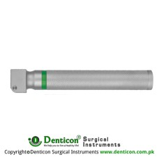 MaxBright™ Fiber Optic Battery Handle Slim Profile - With 2.5 Volts LED Bulb Brass - Chrome Plated,