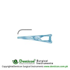 Mini-Glover Vena Atrauma Bulldog Clamp Strongly Curved Titanium, 50 mm Jaw Length 23 mm