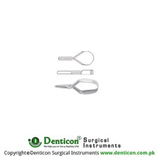 Mini Vessel Clip Stainless Steel, 15 mm Jaw Size 6.0 x 1.0 mm
