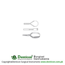 Mini Vessel Clip Stainless Steel, 20 mm Jaw Size 10.0 x 2.0 mm