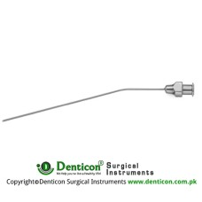 "Verhoeven Suction Cannula With Luer Cone Stainless Steel, 10 cm - 4"" Diameter 0.7 mm Ø"