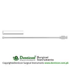 "Schmid Vessel Irrigation Cannula Malleable - With Luer Lock Connection Stainless Steel, 15 cm - 6"" Diameter 3.0 mm Ø"