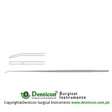 "Rhoton Micro Dissector Spatula Shaped Stainless Steel, 18.5 cm - 7 1/4"" Tip Size 1.0 mm"