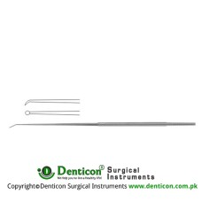 "Rhoton Micro Dissector Round Shaped Stainless Steel, 18.5 cm - 7 1/4"" Diameter 1.0 mm Ø"