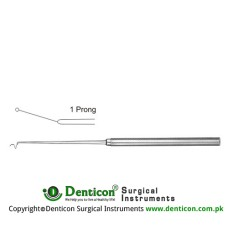 Jacobson Micro Vessel Probe 1 Prong Stainless Steel, 18.5 cm - 7 1/4""