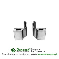 DeBakey Lateral Blades Pair Fig. 2 Stainless Steel, Blade Size 40 x 40 mm