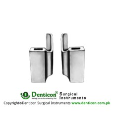 Lateral Blades Pair Fig. 3 Stainless Steel, Blade Size 40 x 100 mm