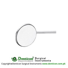 Mouth Mirror (Rhodium Coated) Fig. 5 Stainless Steel, Diameter 24 mm
