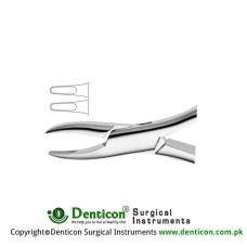 American Pattern Tooth Extracting Forcep (Child) Fig. 1S (For Upper Incisors and Canines) Stainless Steel, Standard