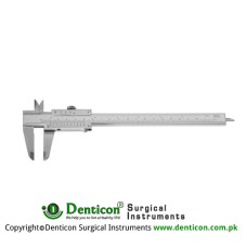 "Caliper Graduated in mm and inches Stainless Steel, 23.5 cm - 9 1/4"" Measuring Range 150 mm"