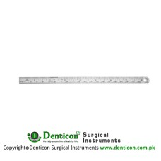 "Ruler Graduated in mm and inches Stainless Steel, 52.5 cm - 20 3/4"" Measuring Range 500 mm"