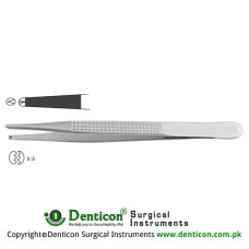 Bonney Dissecting Forceps 1 x 2 Teeth Stainless Steel, 17.5 cm - 7""
