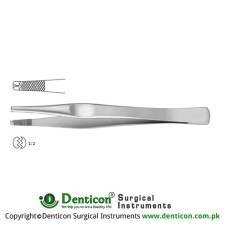 Lane Dissecting Forceps 1 x 2 Teeth Stainless Steel, 12.5 cm - 5""