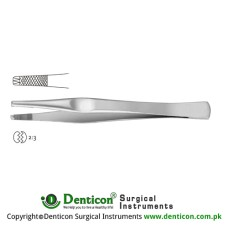 Lane Dissecting Forceps 2 x 3 Teeth Stainless Steel, 14.5 cm - 5 3/4""