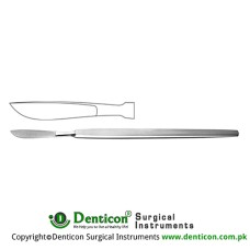 Dieffenbach Dissecting Knife / Opreating Knife With Metal Handle Stainless Steel, 17 cm - 6 3/4""