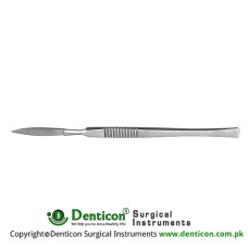 Bergmann Dissecting Knife / Opreating Knife With Metal Handle Stainless Steel, 14 cm - 5 1/2""