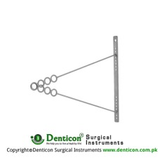Draffin Biopod Rod With 4 Rings for Varying Height Stainless Steel, 48 cm - 19""