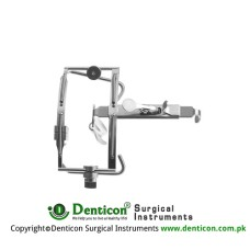 Dingmann Mouth Gag Complete With 3 Tongue Depressors Stainless Steel,