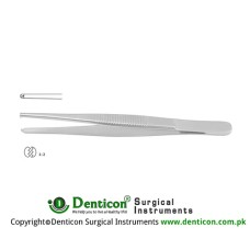 Standard Pattern Dissecting Forcep 1 x 2 Teeth Stainless Steel, 10.5 cm - 4 1/4""