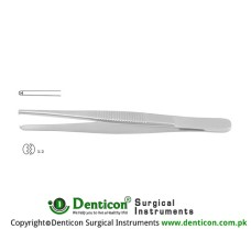 Standard Pattern Dissecting Forceps 1 x 2 Teeth Stainless Steel, 13 cm - 5""