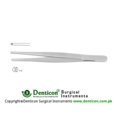 Standard Pattern Dissecting Forcep 1 x 2 Teeth Stainless Steel, 16 cm - 6 1/4""