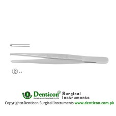 Standard Pattern Dissecting Forceps 1 x 2 Teeth Stainless Steel, 23 cm - 9""