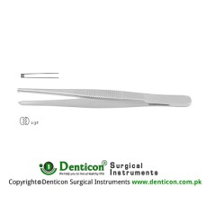 Dissecting Forceps 2 x 3 Teeth Stainless Steel, 12 cm - 4 3/4""