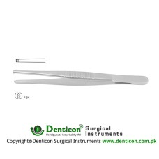 Dissecting Forceps 2 x 3 Teeth Stainless Steel, 13 cm - 5""