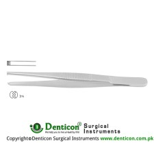 Dissecting Forcep 3 x 4 Teeth Stainless Steel, 14.5 cm - 5 3/4""