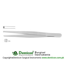 Dissecting Forcep 3 x 4 Teeth Stainless Steel, 16 cm - 6 1/4""