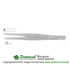 Dissecting Forceps 4 x 5 Teeth Stainless Steel, 14.5 cm - 5 3/4""