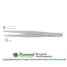 Dissecting Forceps 4 x 5 Teeth Stainless Steel, 16 cm - 6 1/4""