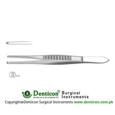 Mod. USA Dissecting Forceps 1 x 2 Teeth Stainless Steel, 12 cm - 4 3/4""