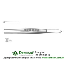 Mod. USA Dissecting Forceps 2 x 3 Teeth Stainless Steel, 25 cm - 9 3/4""