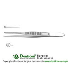 Stille Dissecting Forcep 1 x 2 Teeth Stainless Steel, 15 cm - 6""