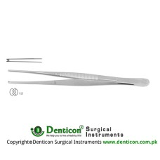 Taylor Dissecting Forceps 1 x 2 Teeth Stainless Steel, 17.5 cm - 7""