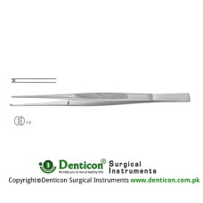 Taylor Dissecting Forceps With Dissector End - 1 x 2 Teeth Stainless Steel, 17 cm - 6 3/4""