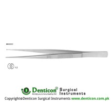"Dissecting Forceps 1 x 2 Teeth Stainless Steel, 15.5 cm - 6"" Tip Size 1.0 mm"