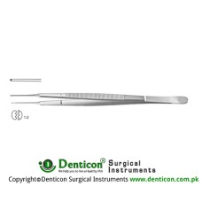 Gerald Dissecting Forceps Curved - 1 x 2 Teeth Stainless Steel, 15.5 cm - 6""