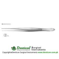 Cushing Dissecting Forceps 1 x 2 Teeth Stainless Steel, 25 cm - 9 3/4""