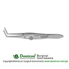 Jameson Muscle Forcep Right - With Slide Lock 4 Teeth - Child Size Stainless Steel, 9.5 cm - 3 3/4""