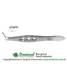 "Livernois-McDonald IOL Inserting Forcep Concave Jaws Stainless Steel, 10.5 cm - 4"" Jaws Length 5 mm"
