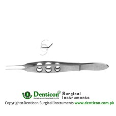 Livernois IOL Holding Forcep Straight - Highly Polished Round Jaws for Holding Soft IOLs Stainless Steel, 10.5 cm - 4""