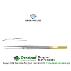 "Diam-n-Dust™ Micro Ring Forcep Curved - With Counter Balance Stainless Steel, 15 cm - 6"" Diameter 1.0 mm Ø"