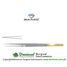 "Diam-n-Dust™ Micro Ring Forcep Straight - With Counter Balance Stainless Steel, 25 cm - 9 3/4"" Diameter 1.0 mm Ø"